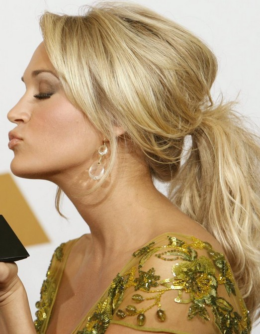 Carrie Underwood Long Hairstyle: Ponytail