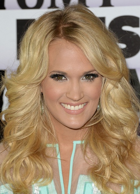 Carrie Underwood Long Hairstyles: 2014 Curls