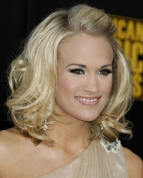 Carrie Underwood Medium Length Hair: Stylish Bangs
