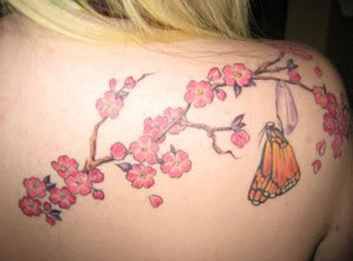 Cherry Tattoos: Flower Tattoos Design for Women