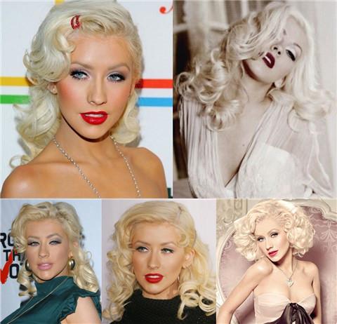 Christina Aguilera Hairstyles: Voguish Retro Hairstyles