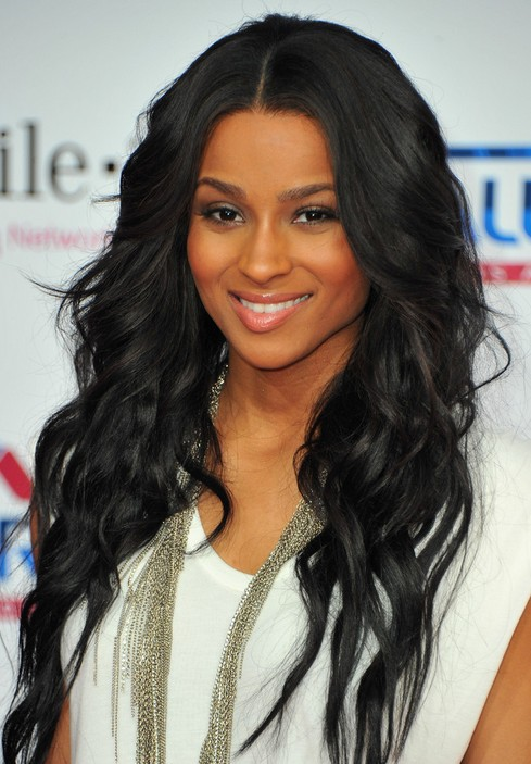 Ciara Long Hairstyle: Black Curly Hair