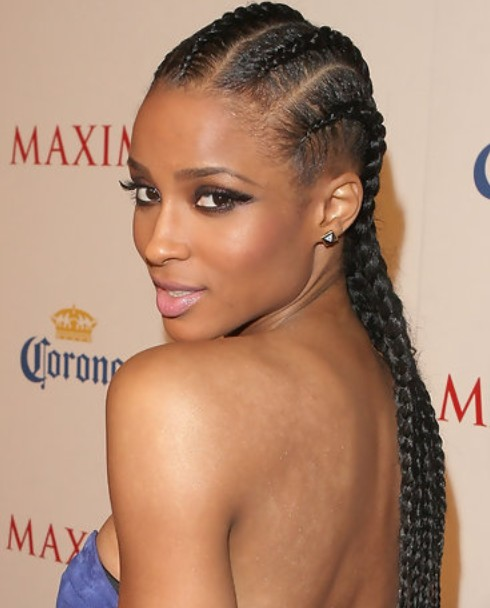 Ciara Long Hairstyle: Braided Haircut | Pretty Designs