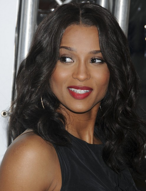 Ciara Long Hairstyle: Elegant Brunette