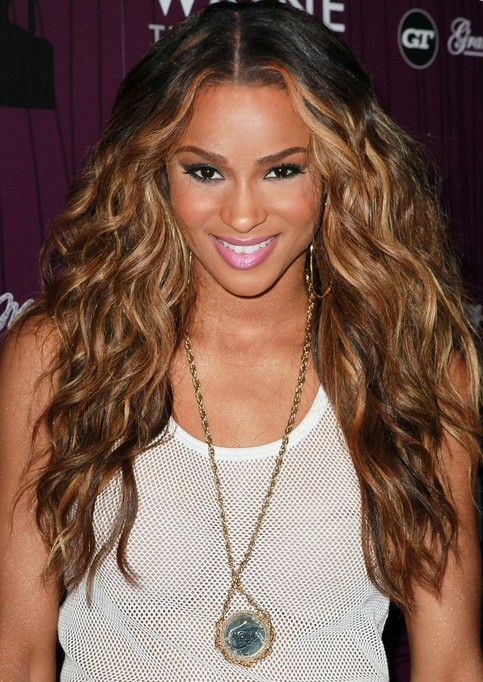 Ciara Long Hairstyle: Heavy Curls for Thick Hair