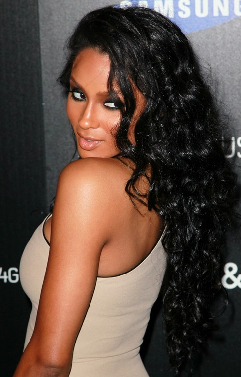 Ciara Long Hairstyle: Raven Hair