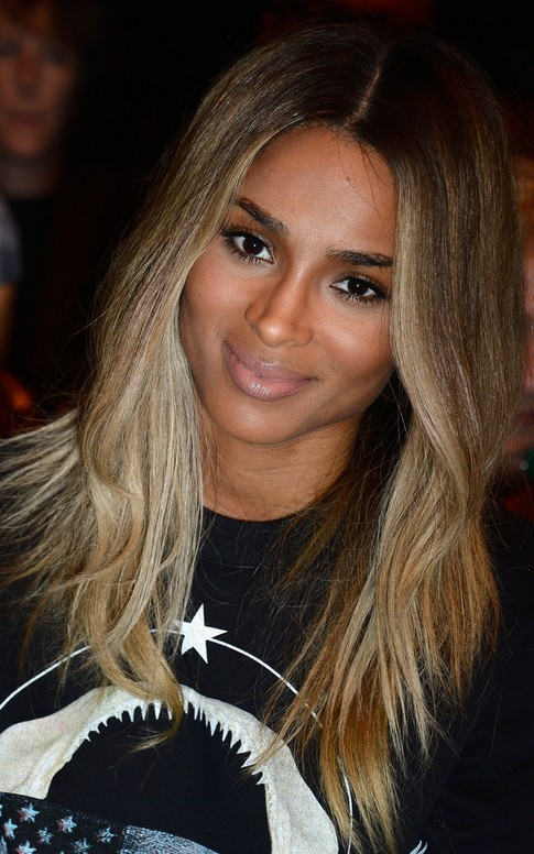Ciara Long Hairstyle: Side Parting