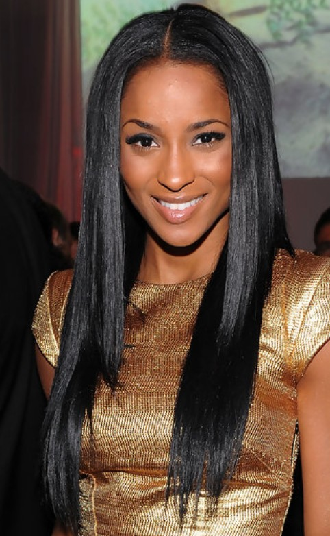 Ciara Long Hairstyle: Straight Hair