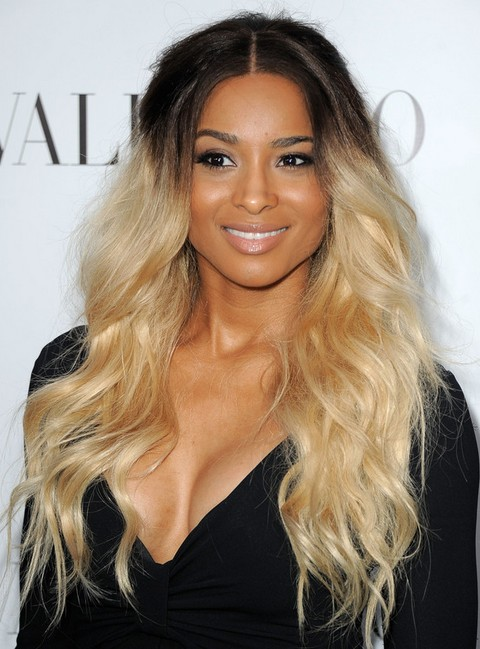 Ciara Long Hairstyle: Two-tone Waves