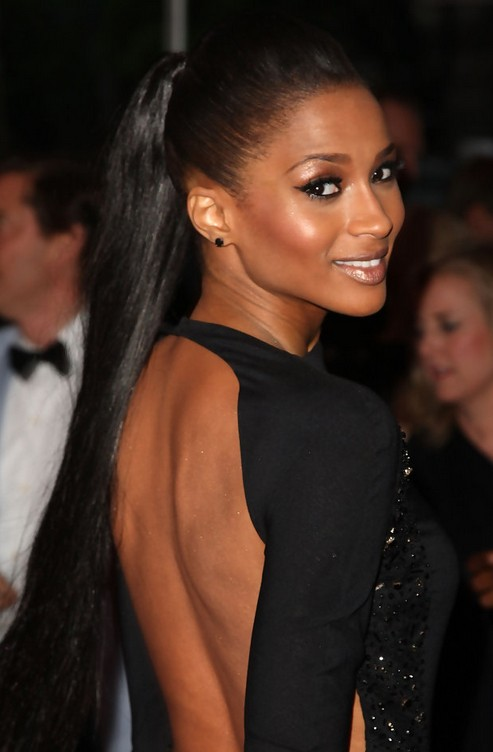 Ciara Long Hairstyle: Ultra-long Ponytail