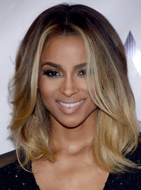 Ciara Medium Hairstyle: Layered Haircut