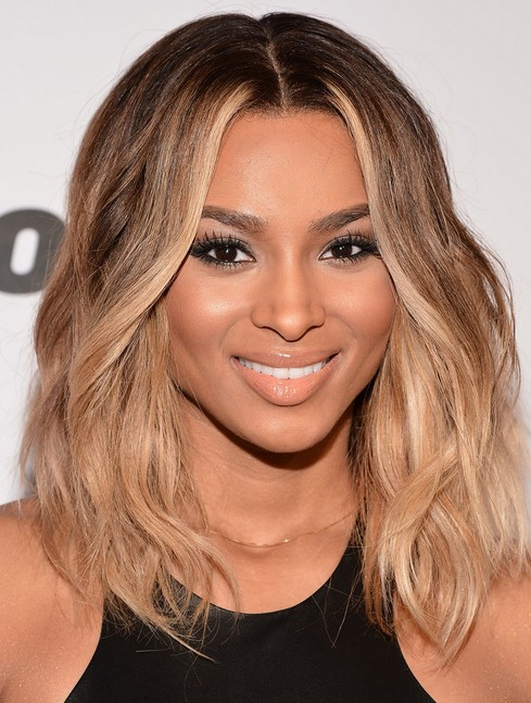 Ciara Medium Hairstyle: Ombre Hair