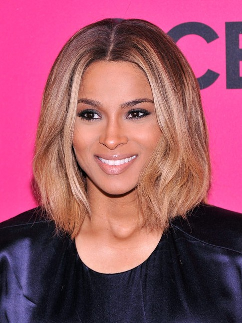Ciara Medium Hairstyles: 2014 Blonde Bob