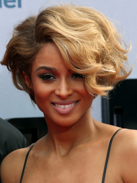 Ciara Short Hairstyle: Angular Hair