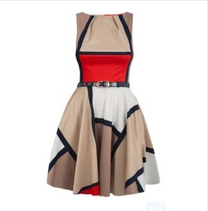 Closet Square Printed Dress, Multicolored