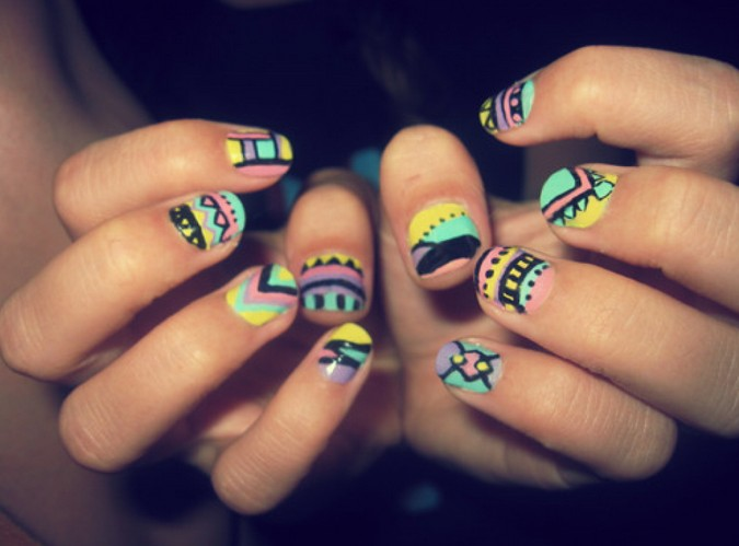 Cute nail designs for beginners pretty designs cute nail designs for back to school prinsesfo Gallery