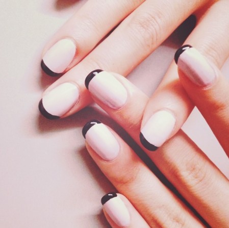 Easy nail designs simple nail art design ideas pretty designs cute simple nail design black line tips prinsesfo Image collections