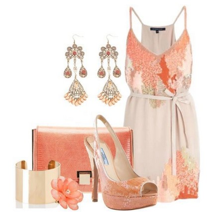 Daily Outfit Look,pink floral mini dress and sandles