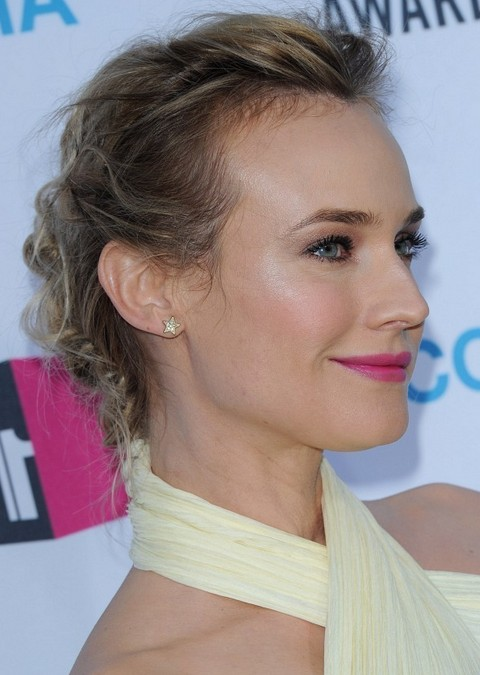 Diane Kruger Hairstyles: Alluring Messy Updo