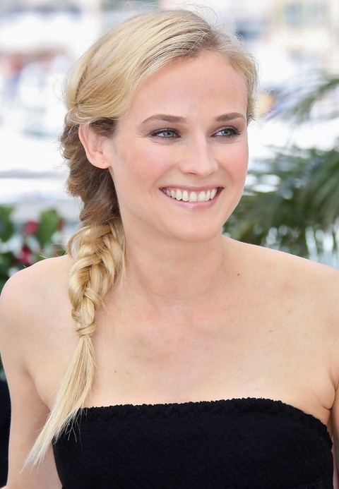 Diane Kruger Hairstyles: Fabulous Braided Hairstyle