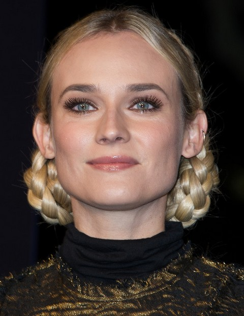 Diane Kruger Hairstyles: Gorgeous Braided Hairstyle