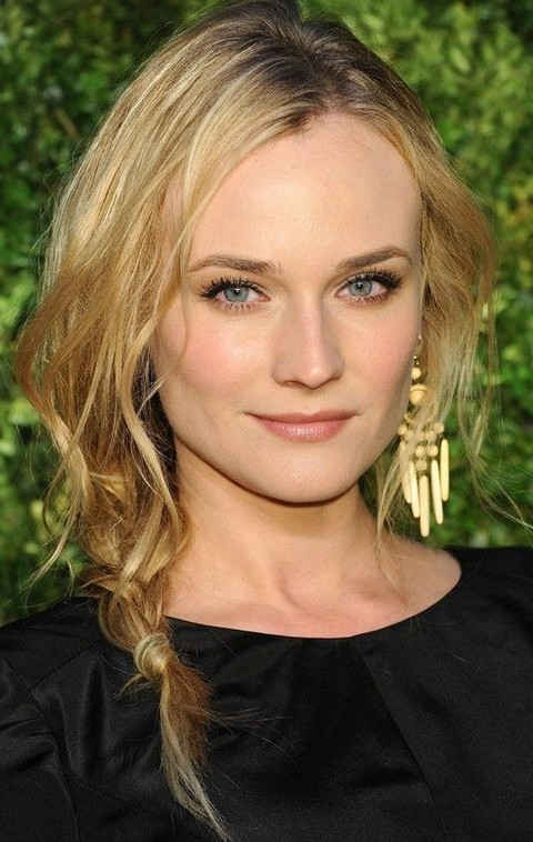 Diane Kruger Hairstyles Loose Braid Pretty Designs