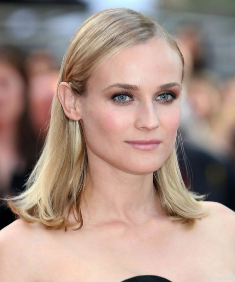 Diane Kruger Hairstyles Medium Straight Haircut Pretty