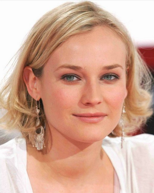 Diane Kruger Hairstyles Medium Wavy Haircut Pretty Designs