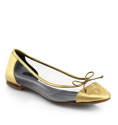 Dance Metallic Leather Ballet Flats