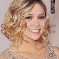 Deep Parted Curly Wavy Hair for Medium Party Hairstyles