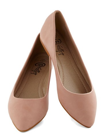Defined the Scenes Ballerina Flat in Blush