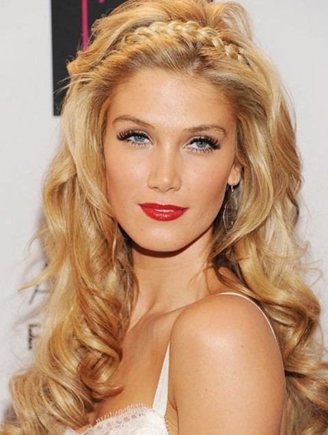 Delta Goodrem Hairstyles: Fascinating Long Curls with Braids