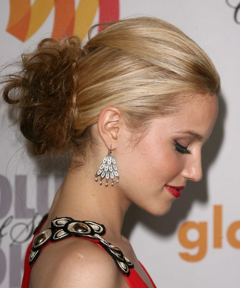 Dianna Agron Hairstyles: French Twist