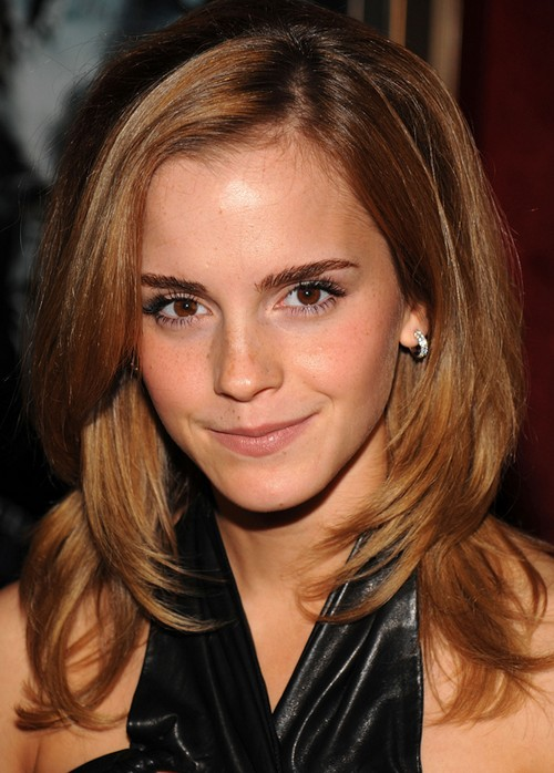 Emma Watson Long Hairstyle: Layered Curls