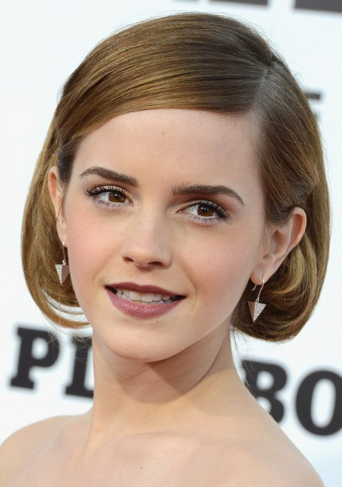 Emma watson short hairstyle retro bob pretty designs