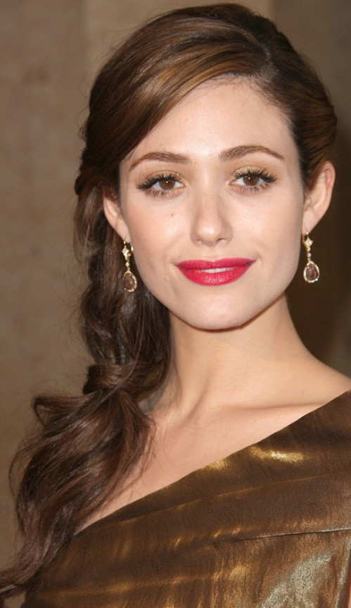 Emmy Rossum Long Hairstyle Loose Braid Pretty Designs