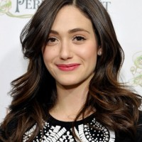 Emmy Rossum Long Hairstyles: 2014 Angular Waves