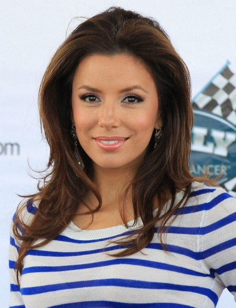 Eva Longoria Hairstyles: Cheerful Layered Haircut