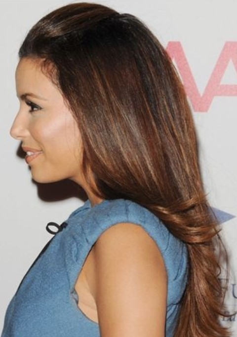 Eva Longoria Hairstyles: Half-up Half-down Hairstyle
