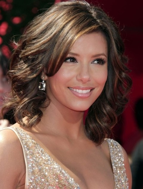 Eva Longoria Hairstyles: Medium Curls