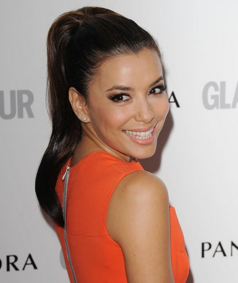 Eva Longoria Hairstyles: Pretty Ponytail