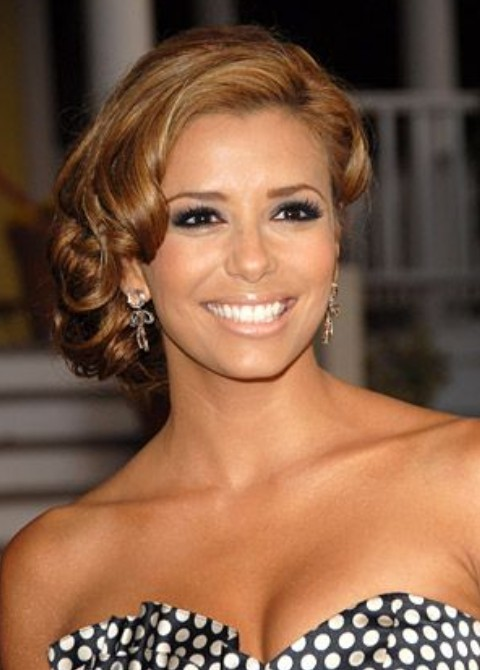 Eva Longoria Hairstyles: Retro Curls