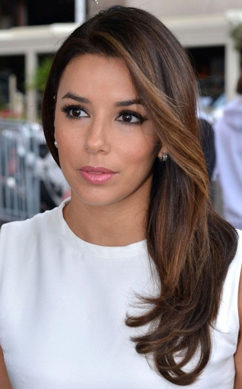 Eva Longoria Hairstyles Side Swept Hairstyle Pretty Designs