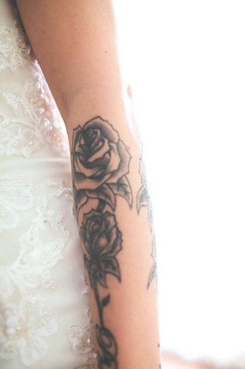 55 best rose tattoos designs best tattoos for women for Forearm flower tattoos