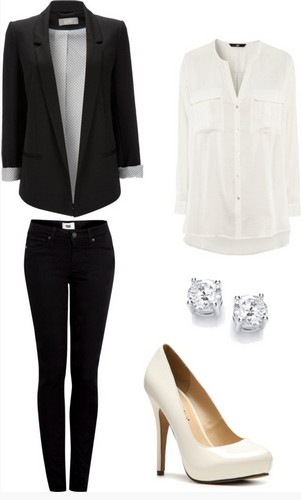 Formal outfit, The classic black pantsuits
