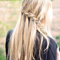French Braid Tutorials: Waterfall Braided Hairstyles