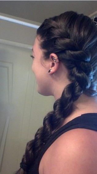 French Rope Braid Hairstyle for Long Black Hair