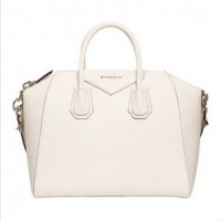 GIVENCHY Medium Antigona GrainedWhite Leather Handbag