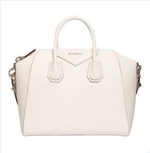 GIVENCHY Medium Antigona GrainedWhite Leather Handbag