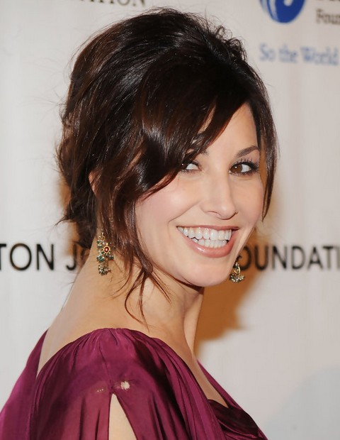Gina Gershon Hairstyles: Bobby Pinned Updo